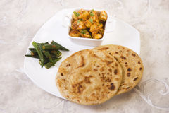 Indian Thali with Masala Bhandi Stock Images