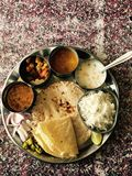 Indian Thali Royalty Free Stock Photography