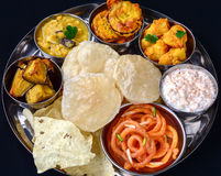 Indian Thali Royalty Free Stock Photos