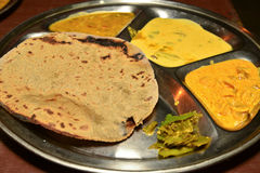 Indian thali in rajasthan Stock Images