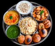 Indian Thali Royalty Free Stock Photo