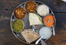 Indian thali. Traditional south indian dish Royalty Free Stock Photo