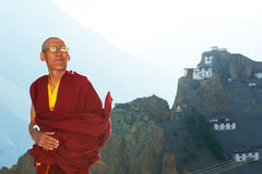 Indian tibetan monk lama Royalty Free Stock Photo