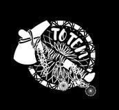 Indian tomahawk totem Stock Image