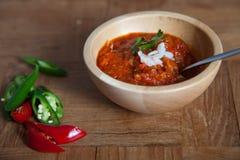 Indian tomato dip Stock Photo