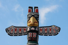 Indian totem. Old native american totem pole Royalty Free Stock Image