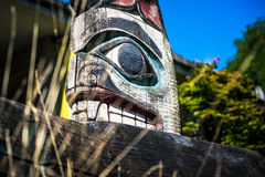 Indian Totem on Display Stock Photography