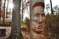 Indian Totem Pole. An image of an indian totem pole at the Jamestown Settlement, Williamsburg Virginia Royalty Free Stock Photo