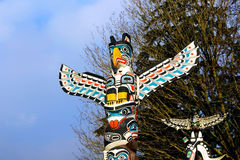 Indian Totem poles Royalty Free Stock Image