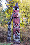 Indian Totem poles Stock Photography