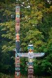 Indian totem poles Royalty Free Stock Image
