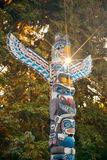 Indian totem poles Royalty Free Stock Photo