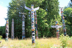 Indian Totems Stock Photo