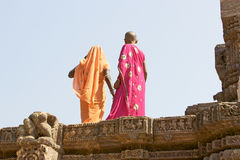 Indian tourist at the Konarak Sun Temple Stock Photography