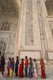 Indian tourist at the Taj Mahal in Agra, India Royalty Free Stock Images
