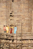 Indian tourists explore Konarak Temple Royalty Free Stock Photo