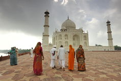 Indian tourists in Taj Mahal Royalty Free Stock Image