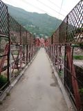 Indian town small bridge in towns stock photo
