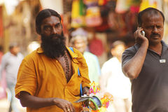 Indian toy salesman. Toy salesman on the street in Madurai Stock Image
