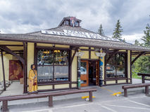 Indian Trading Post in Town of Banff Stock Images