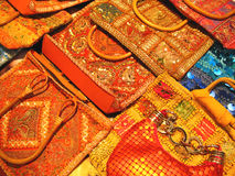 Indian Traditional bags. Handmade bags traditionally made by indian artists of gujarat Stock Photography