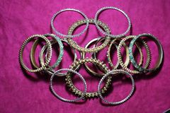 Indian traditional bangles stock images