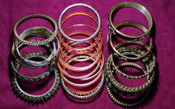 Indian traditional bangles stock photography