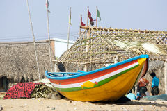 Indian traditional boat Royalty Free Stock Photo