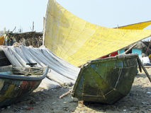 Indian traditional boats on the beach Stock Image
