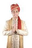 Indian in traditional clothes. Stock Photo