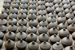 Clay Pots. Indian Traditional Craft Art of Clay pots Royalty Free Stock Photo