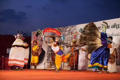 Indian traditional dancing Stock Images