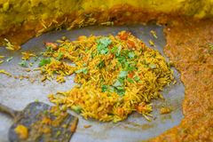 Veg Biryani. Indian traditional dessert Veg biryani Royalty Free Stock Photography