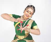 Indian traditional female dancer Royalty Free Stock Images