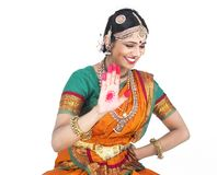 Indian traditional female dancer Royalty Free Stock Photography