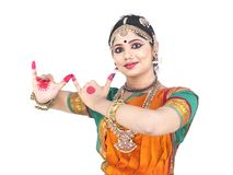 Indian traditional female dancer Royalty Free Stock Photo