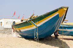 Indian traditional fisherman pirogue Royalty Free Stock Images