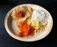 Indian traditional food. Goa Royalty Free Stock Photo
