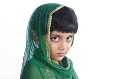 Indian Traditional Girl with Expression Stock Image