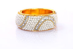 Indian Traditional Gold Bangle With Beads Royalty Free Stock Photos