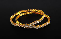Indian Traditional Gold Bangles Royalty Free Stock Image