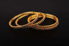 Indian Traditional Gold Bangles Stock Photography