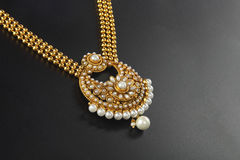Indian Traditional Gold Necklace Royalty Free Stock Image