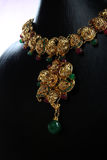 Indian Traditional Gold Necklace Royalty Free Stock Images