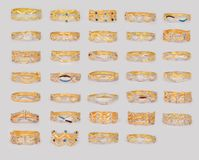 Golden Ring. Indian Traditional Golden Ring isolated on white royalty free stock photography