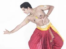 Indian traditional male dancer Stock Photos