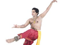 Indian traditional male dancer Stock Photo