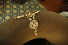 Indian  jewellery beautiful necklace royalty free stock photo