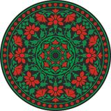 Indian traditional pattern in color - flower mandala Stock Images