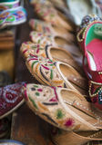 Indian traditional shoes Royalty Free Stock Photo
